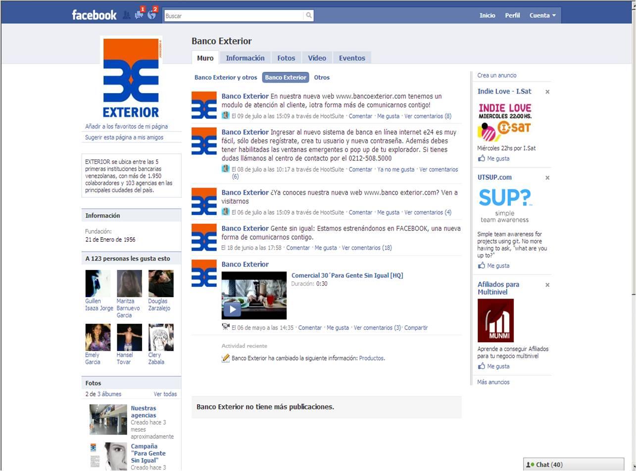 Banco exterior se une a las redes sociales for Banco exterior personas