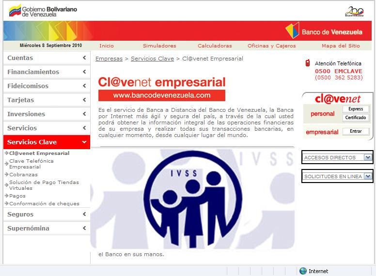 2010 septiembre for Hotmailbanco de venezuela