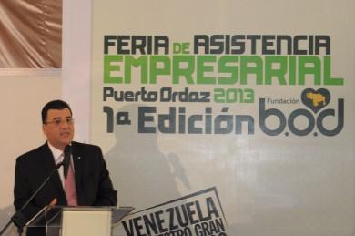 Andrés Pérez Capriles, Vicepresidente Ejecutivo de Negocios de B.O.D.-Corp Banca, durante la inauguración de la Feria de Asistencia Empresarial, en Puerto Ordaz.