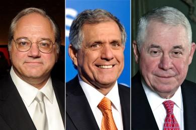 De izquierda a derecha: Anthony Petrello de  Nabors Industries, Leslie Moonves de CBS y Richard Adkerson de Freeport-McMoRan Copper & Gold son los jefes de empresas mejor pagados.