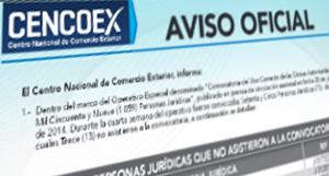 cencoex-Listado