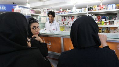 Iranian women buy medicine from a pharmacy in Tehran on October 21, 2012. Some six million patients in Iran are affected by Western economic sanctions as import of medicine is becoming increasingly difficult, governmental newspaper Iran Daily reported quoting a health official. AFP PHOTO/ATTA KENARE (Photo credit should read ATTA KENARE/AFP/Getty Images)